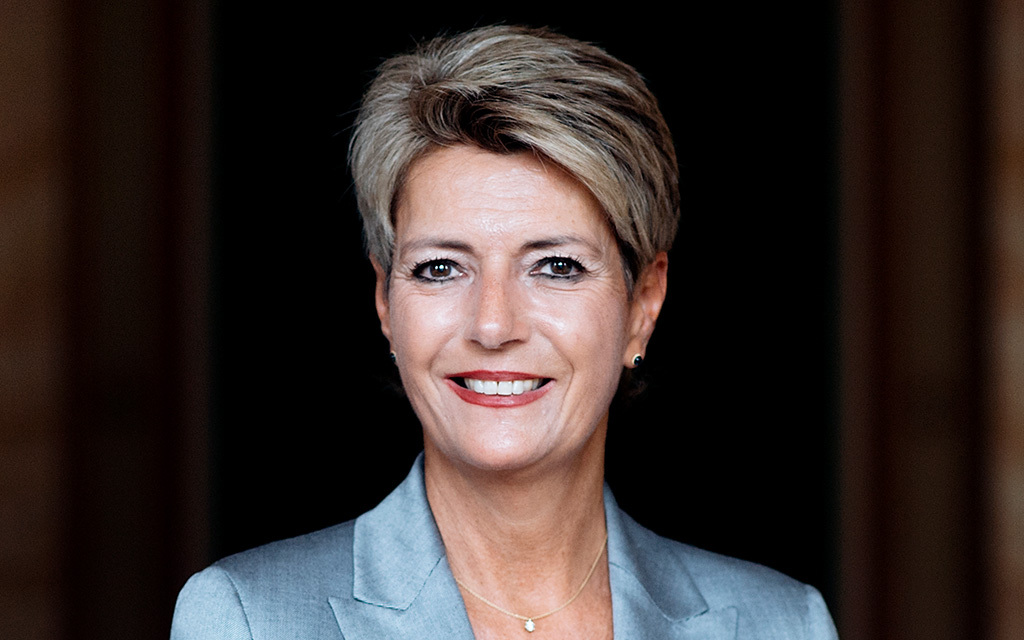 Portrait of federal councillor Karin Keller-Sutter